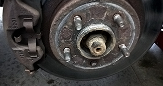 Lube in Drive Hubs Brake Fluid